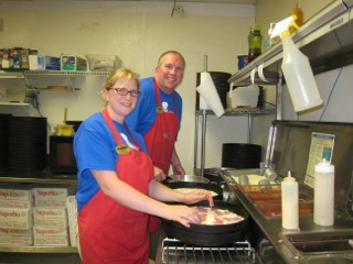 Andy and Becky of A Papanos Pizza Beulah